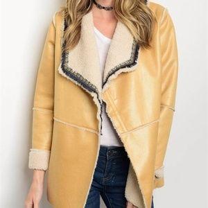 Jackets & Blazers - FAUX SUEDE &  FAUX FUR COAT